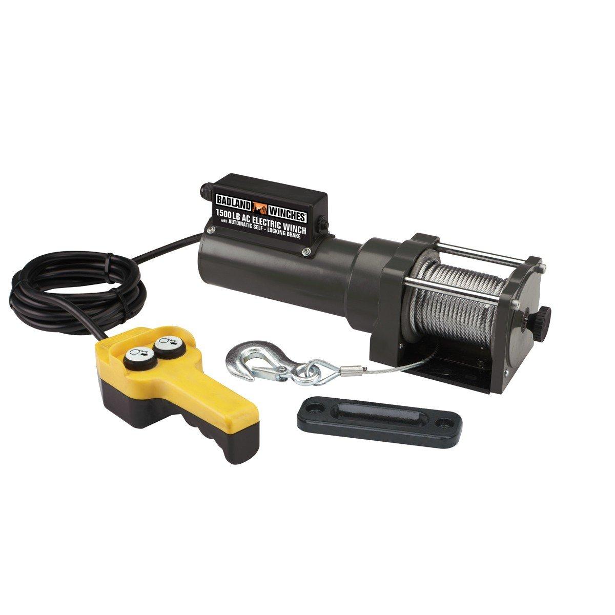 Amazon.com: 1500 lb. Capacity 120 Volt AC Electric Winch by USATNM: Home  Improvement