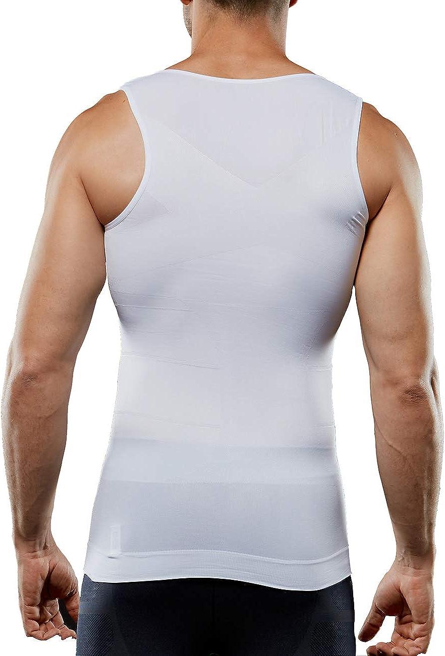 Workout-Unterhemd nahtlos figurformend Cacosa Herren-Kompressions-Unterhemd Shapewear Muskel-Tank-Top