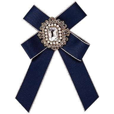 YYIILL Broche de arco para mujer Corbata de corbata Broche de lazo ...