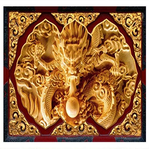 Yynight Large - Scale Mural Stone Carving Three Dimensional Dragon Map Tv Background Wall Non - Woven Wallpaper-120Cmx100Cm