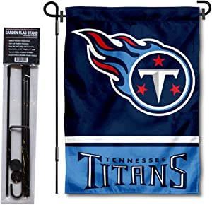 WinCraft Tennessee Titans Garden Flag with Stand Holder