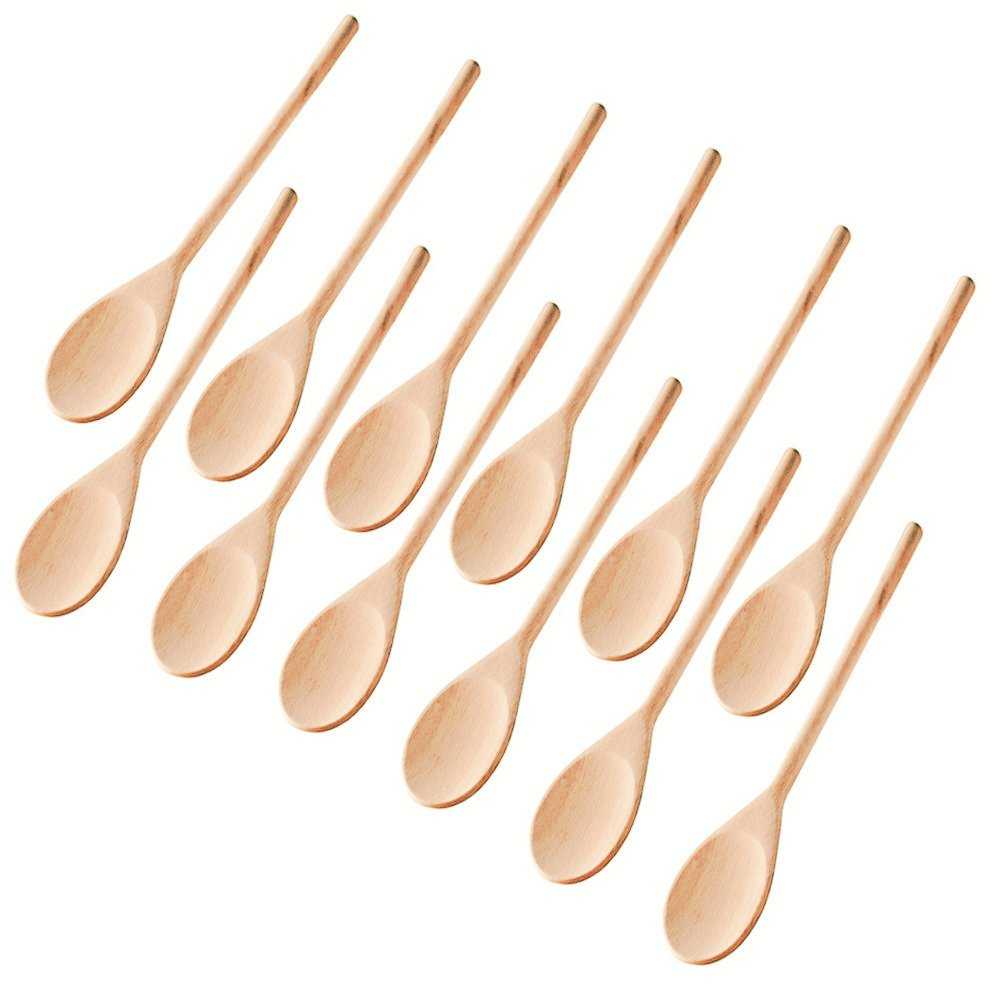 Kitchen Wooden Spoons Mixing Baking Serving Utensils Puppets 12 inch - Set of 12 ROUNDSQUARE SYNCHKG126981
