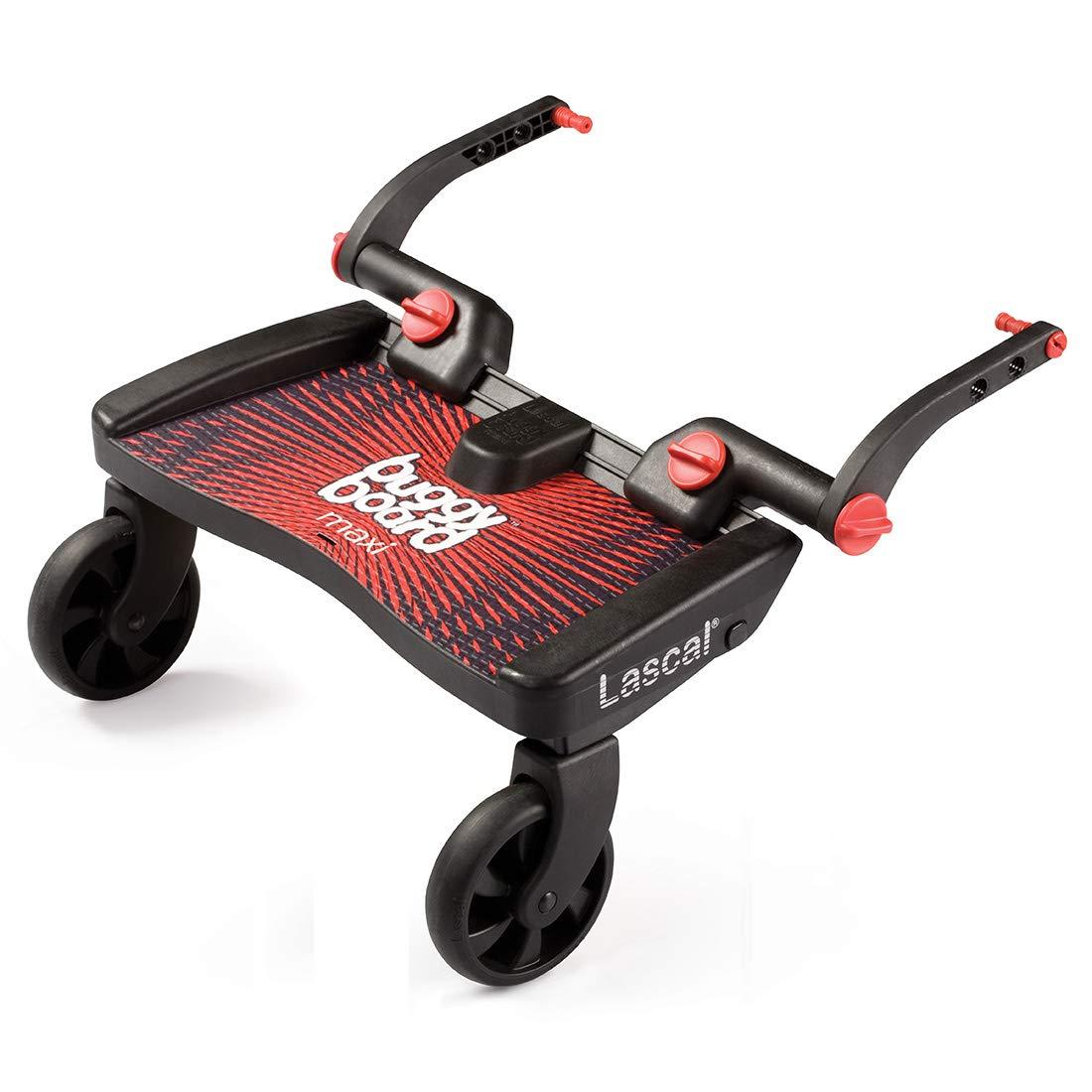 Lascal 2540 - BuggyBoard Maxi - Tabla con ruedas para carrito, color azul y negro