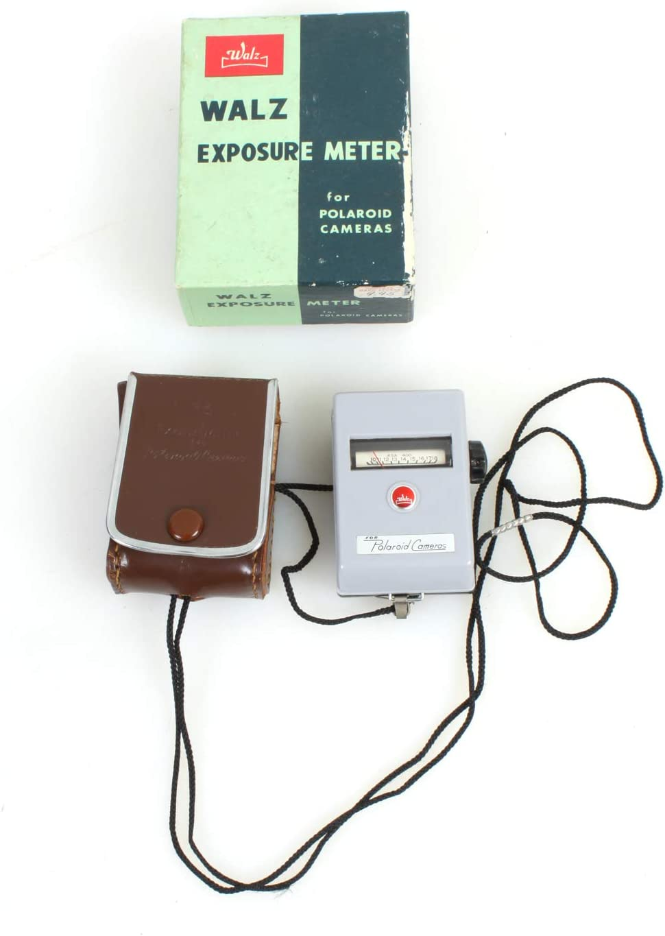 Vintage WALTZ Exposure Meter for Polaroid Pictures with Leather CASE and Box