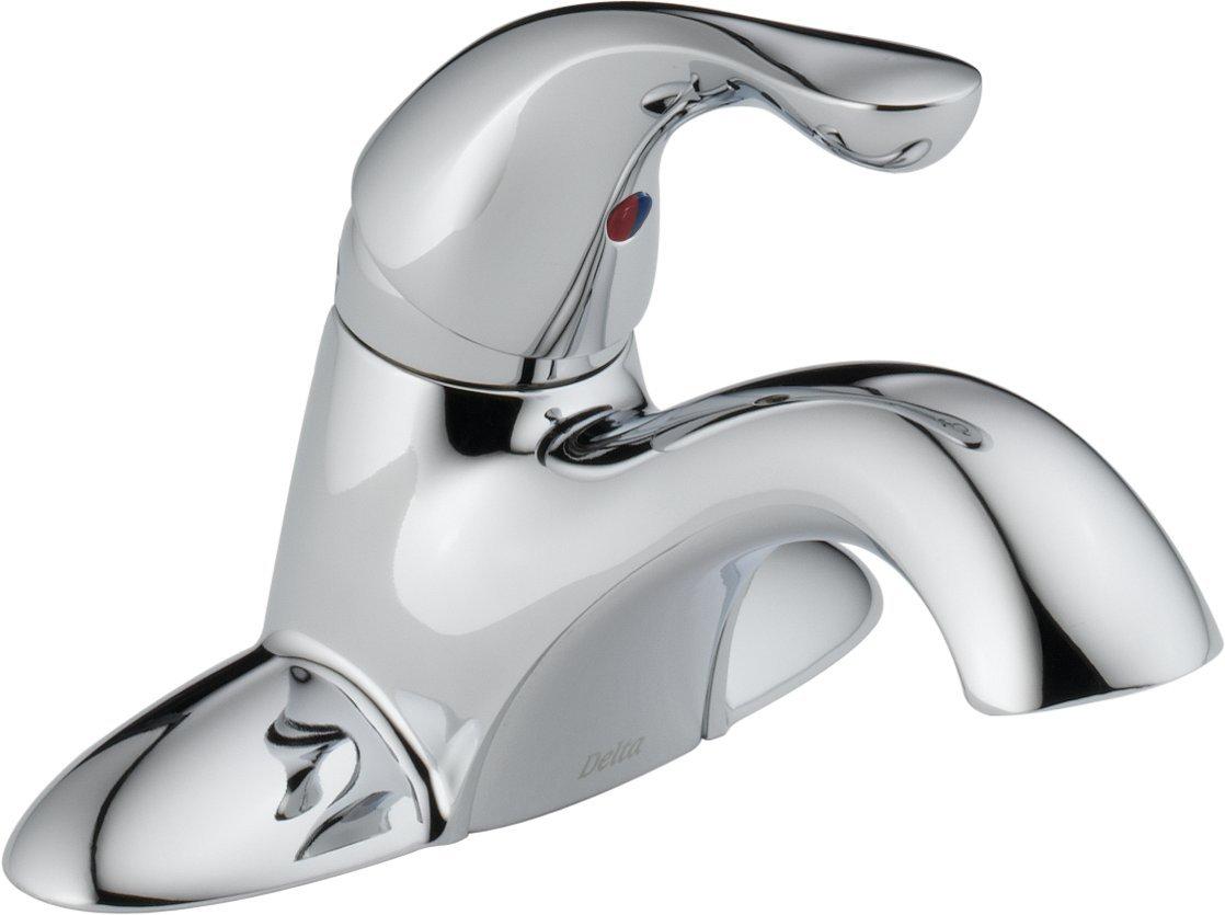 Delta 500-DST Classic Single Handle Centerset Bathroom Faucet - Less Pop-Up, Chrome