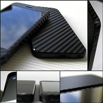 Apple iPhone 5S 3D Black Carbon Fibre Skin Kit - Full