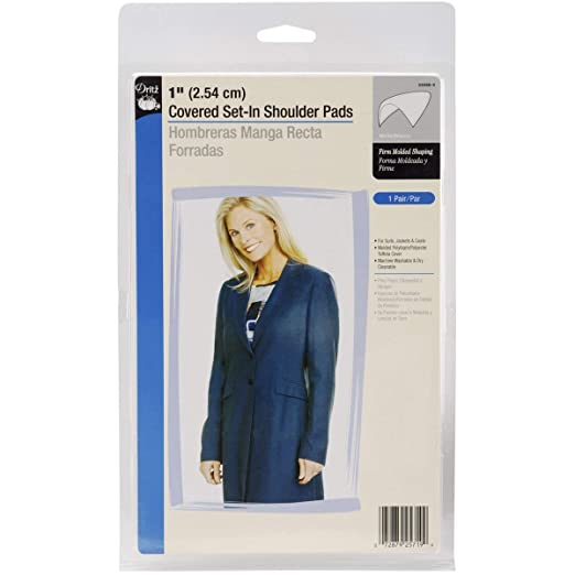 Dritz 53088-9 Shoulder Pads, Covered Set-in, 1-Inch, White