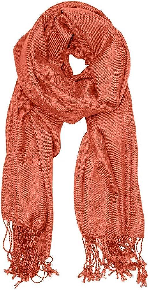 Essencea Woolen Pashmina Shawl Wrap Scarf Soft Cashmere Feel Stole with Fringes