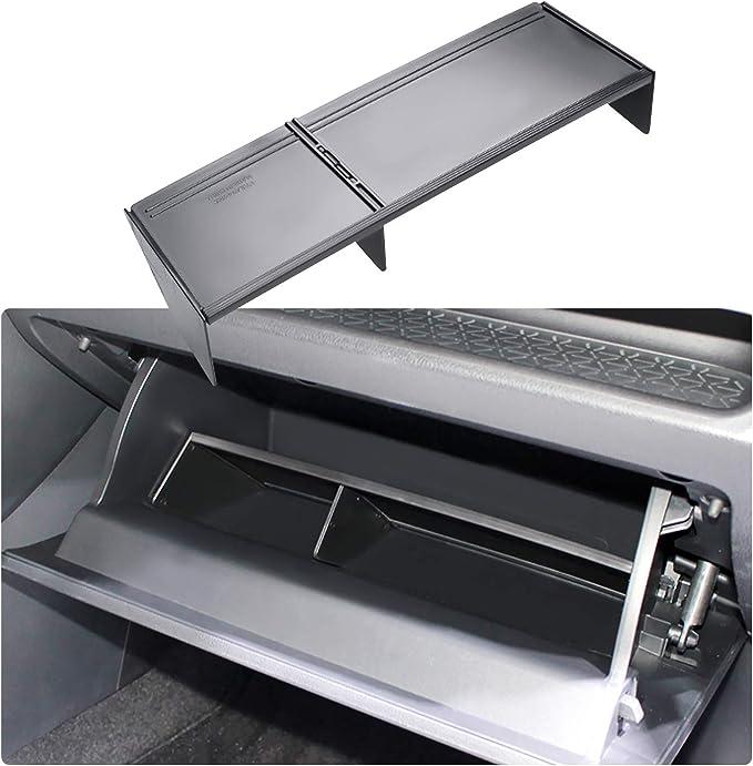 Wroadavee Inner Center Console Glove Box Insert Storage Box for Audi Q5 2017-2020