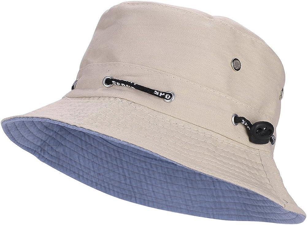 Hosaire 1x Reise Sonnenhut Einfaches Muster Damen Fischerhut UV-Schutz Becken M/ütze Sommer Visier Kappe 56-58CM