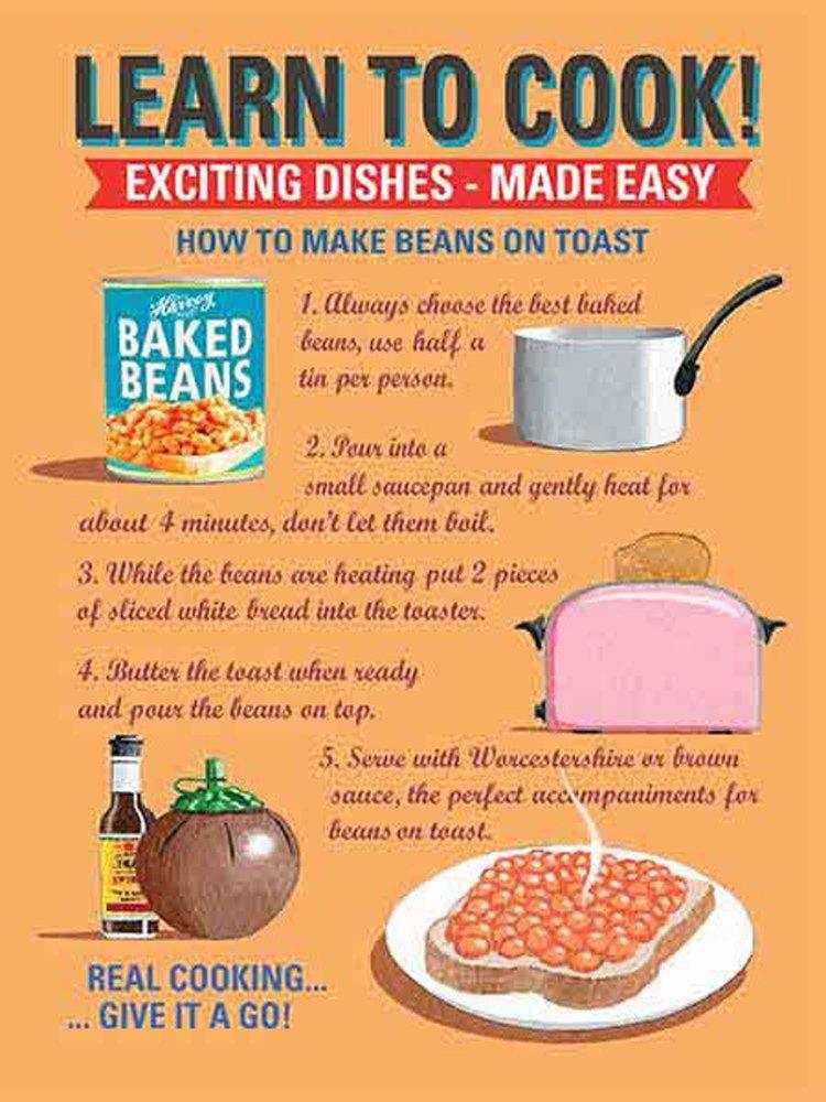 Cuisine Learn to Cook Cocina Cartel de chapa FUN Receta de ...