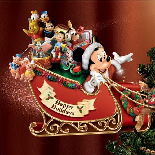 Mickey Christmas Tree Topper: The Bradford Exchange Disney's Timeless Holiday Treasures