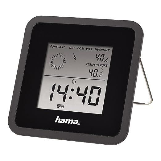 """7 opinioni per Hama TH Orologio/termometro/igrometro """"TH50"""", nero, Plastica, Nero"""