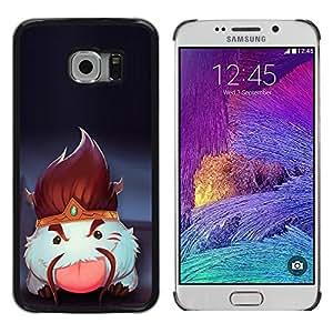 EJOY---Cubierta de la caja de protección la piel dura para el / Samsung Galaxy S6 EDGE / --Blanco mullido Criatura