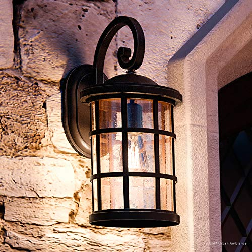 (Luxury Craftsman Outdoor Wall Light, Medium Size: 17.75