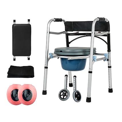 Ancianos Walker/Soporte para caminar/Y Asiento Plegable ...