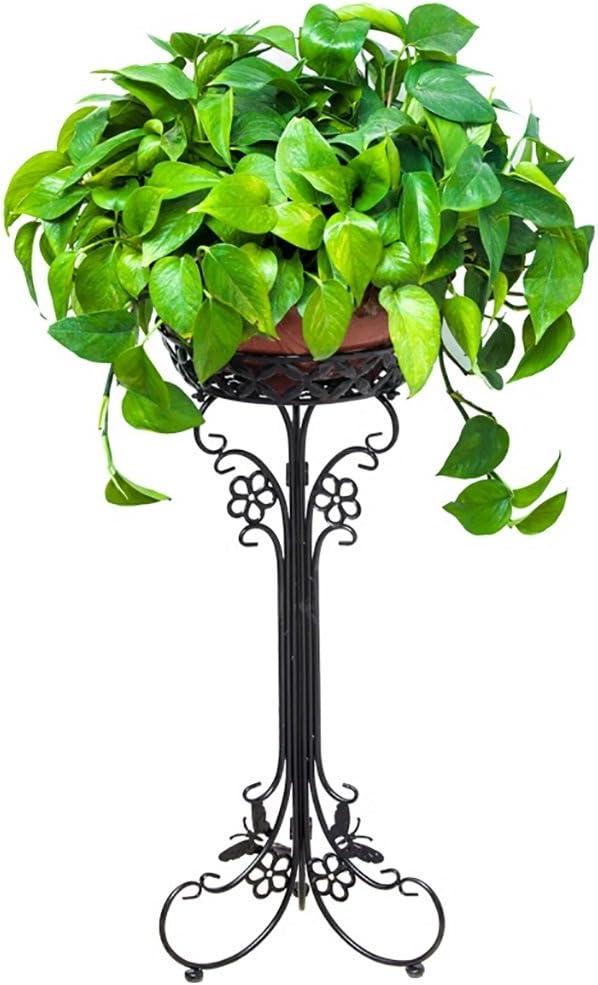 AIDELAI Aiilai - Estante de flores de hierro con marco de balcón, multicapa, diseño de flores, color verde, para jardín, patio, jardín o pergolas: Amazon.es: Jardín