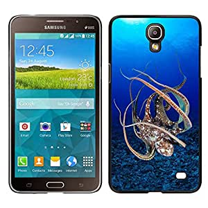 Be-Star Único Patrón Plástico Duro Fundas Cover Cubre Hard Case Cover Para Samsung Galaxy Mega 2 ( Blue Octopus Sea Underwater Scuba )