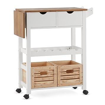 Amazon.de: miaVILLA Küchenrollwagen Levi Küchenwagen mit Schubladen ...