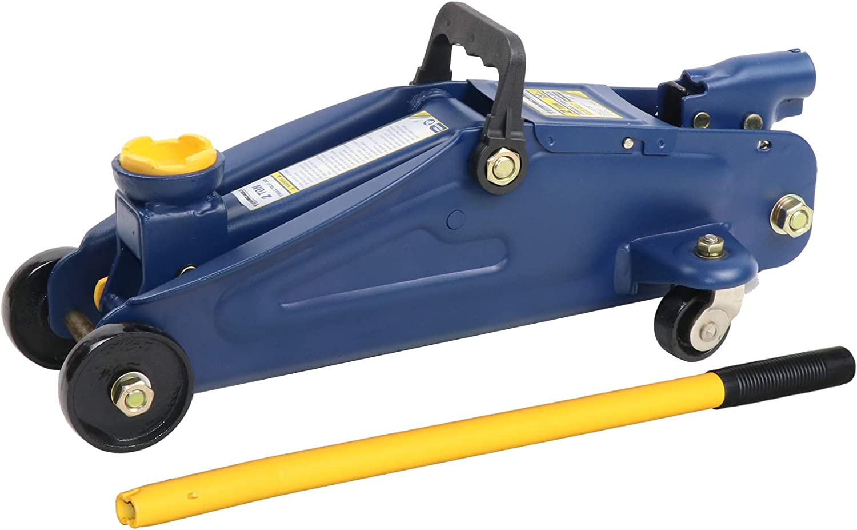 "Stronghold Hydraulic Floor Jack, Steel, 12-3/4"" Max. Height, 2 Ton - 4,000 lb. Capacity: Automotive"