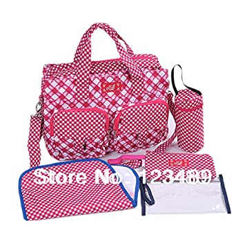774708e2be05 5PCS Kit Fashion Nappy Bag Baby Diaper Bags Baby Bags Mummy Bags With 2  Front Pocket   Baby