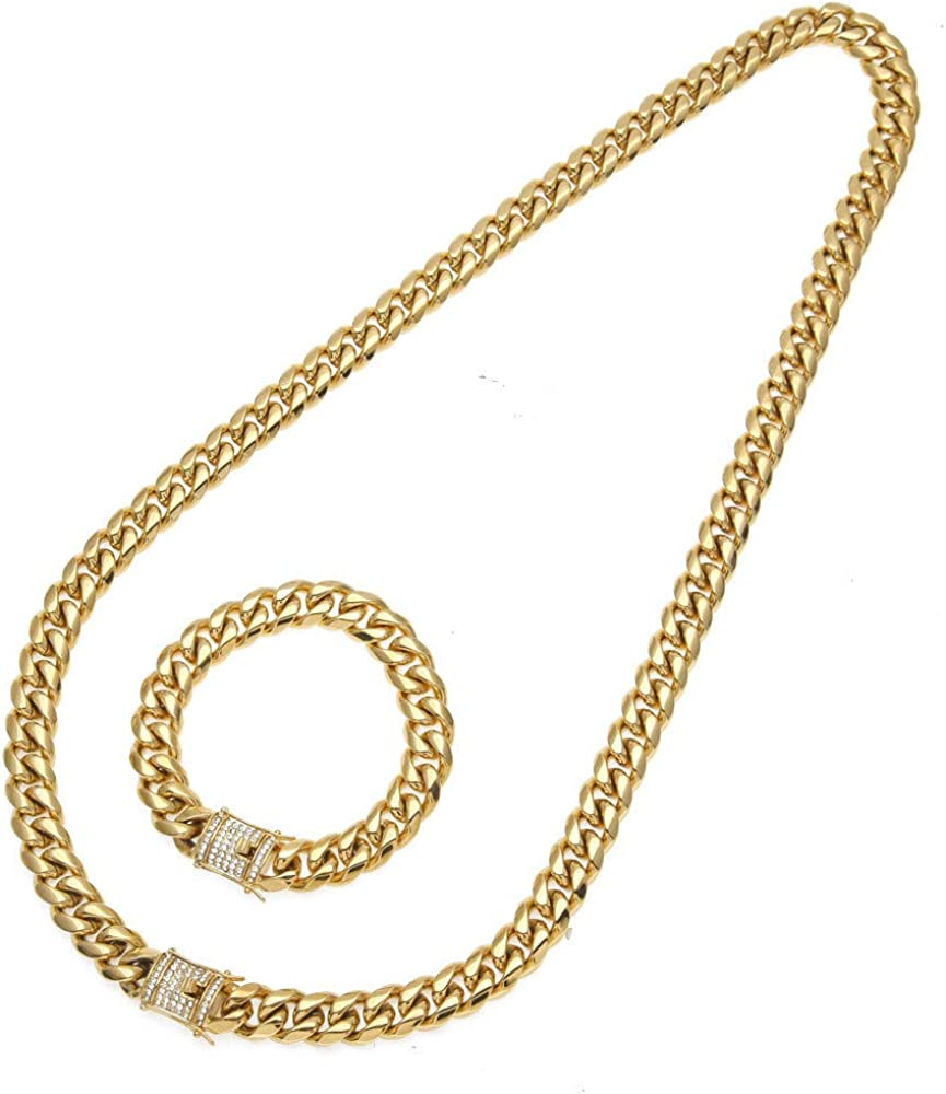 HKDGID Gold Chain Choker Necklace,14K Gold Filled Dainty Cute Lip Chain Long Necklace Delicate Fashion Choker Necklace Jewelry Gift for Women
