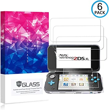 Ycloud [6 Pack] Protector de Pantalla para Nintendo New 2DS XL,[9H ...