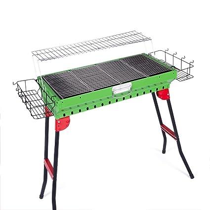 Kunliyin YY1 Parrilla para Acampar portátil Plegable Engrosamiento Estufa de Barbacoa de carbón de leña Hecha