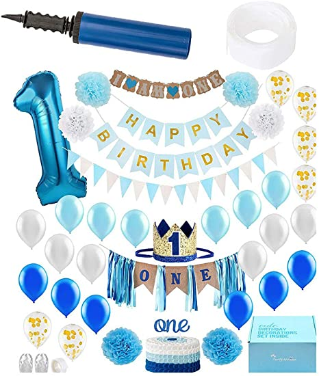 Guve 1er. Cumpleaños Boy Kids Decorations -42 Pack de Silla Alta ...