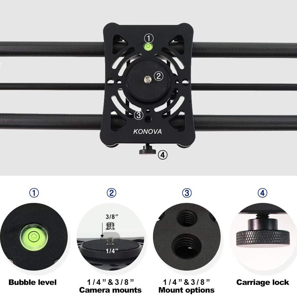 Konova Motorisierter Schieber P1 80cm Carbon Slider Kamera