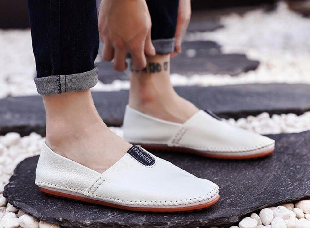 CAI Schuhe Herren Schuhe CAI Mikrofaser Leder Faule Schuhe Frühjahr Sommer   Herbst Winter Komfort Light Sohlen Loafers & Slip-Ons Herren Wanderschuhe Driving Schuhes (Farbe   Weiß, Größe   43) 7d0ebe