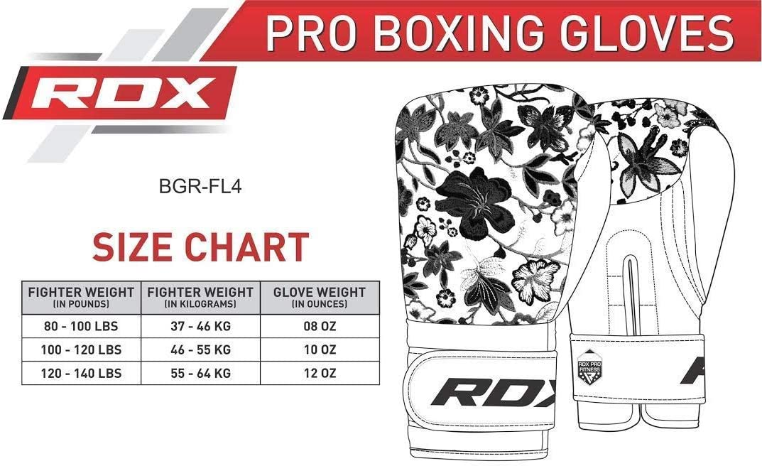 Focus Pads and Double End Ball Punching Kickboxing /& Sparring Flora Skin Ladies Mitts for Fighting Good for Punch Bag RDX Women Boxing Gloves for Training /& Muay Thai