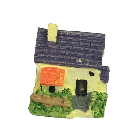 Outflower Adornos de Madera para Decoración de Jardín, Diseño de Hadas, Decoración de macetas