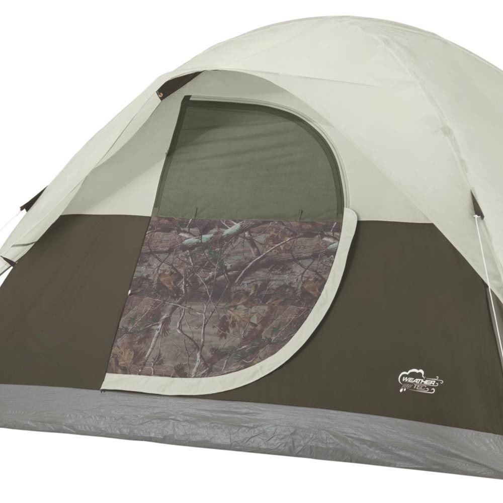 MRT SUPPLY Realtree Xtra 4-Person Camo Dome Tent with Door Awning With Ebook