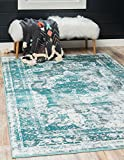 Unique Loom 3137828 Sofia Collection Traditional Vintage Beige Area Rug, 8' x 10' Rectangle, Turquoise