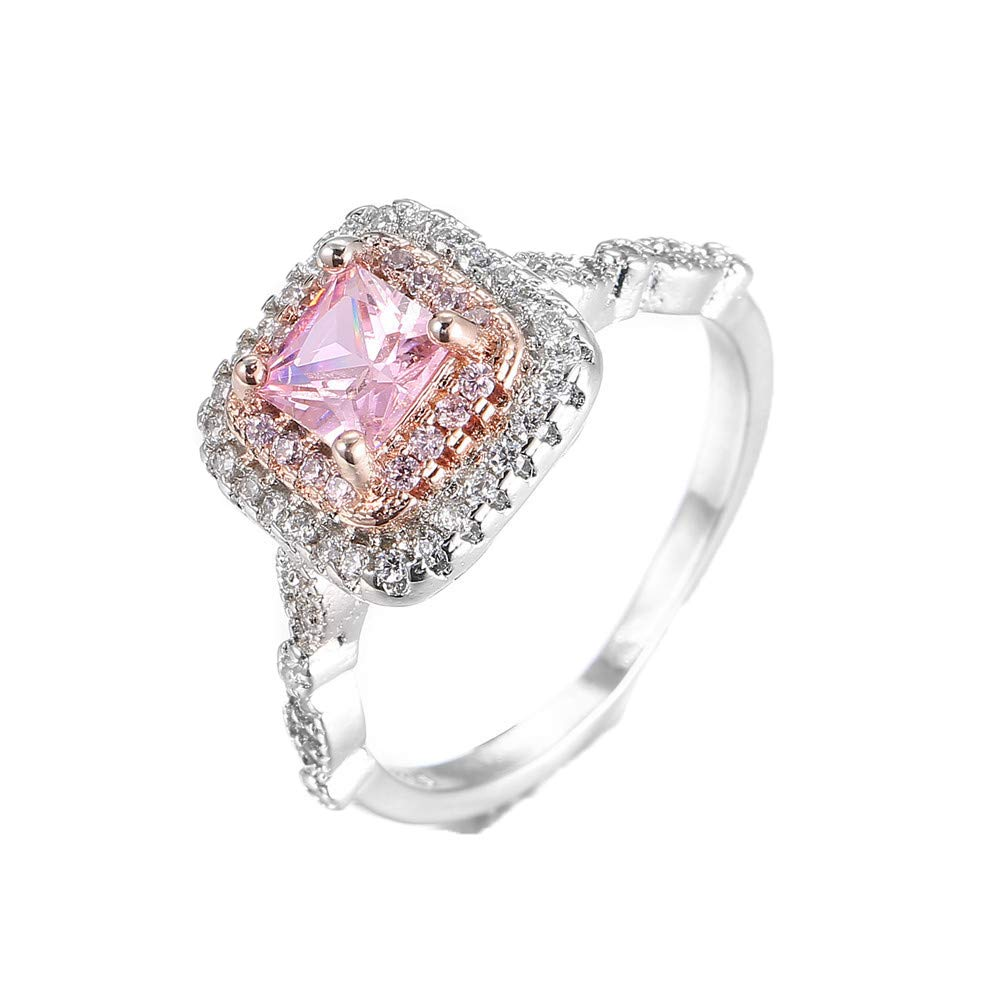 Women Rings,Yamally Lady's Crystal Engagement Rings Best Promise Rings for Her Anniversary Wedding Diamond Rings