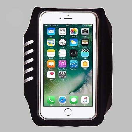 HUANSHU Brazalete, con audífonos Clave Estuche para teléfono con Soporte Luminoso, Brazalete Estuche para Brazalete para teléfono iPhone XS MAX, XR, X, 8 Plus, 7 Plus, 6 Plus, 6S Plus,Black: Amazon.es: Hogar
