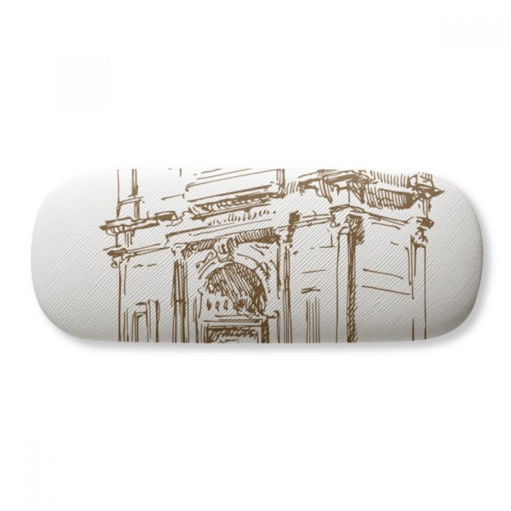 Arch of Constantine Rome Constantine Glasses Case Eyeglasses Clam Shell Holder Storage Box