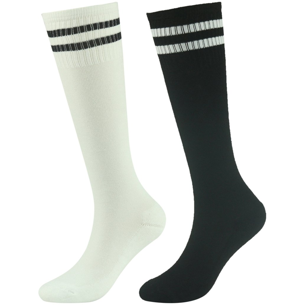saillsen SOCKSHOSIERY ガールズ B07BGZNNR5 2 Pairs-black & White 2 Pairs-black & White