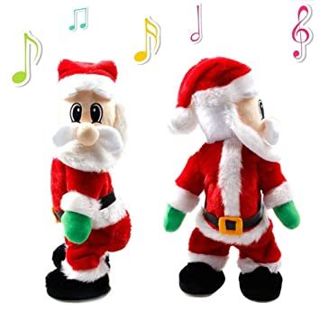 electric santa clausiluci christmas santa claus figure twisted hip twerking singing electric toys for - Santa Claus For Kids