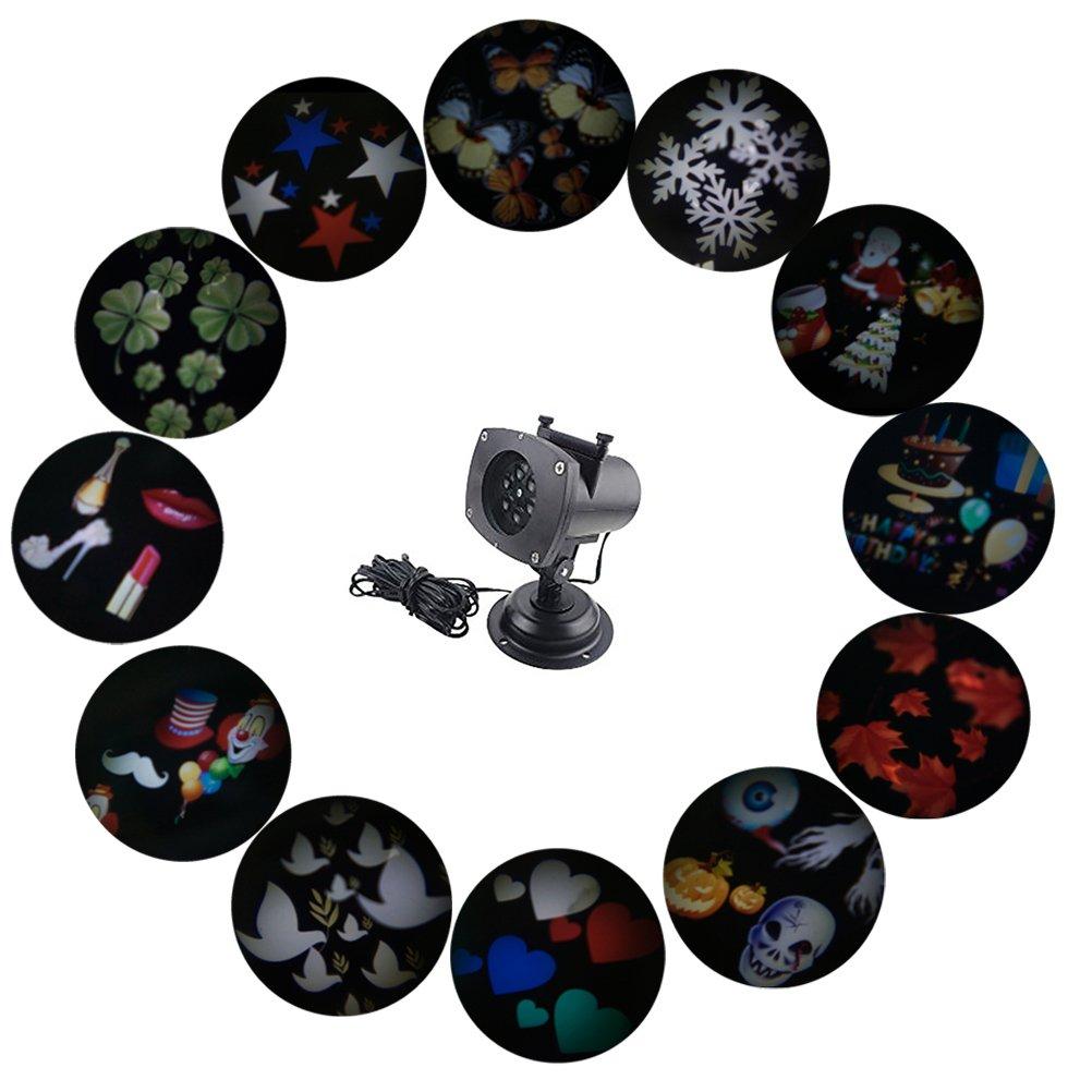 SMITHROAD LED Projektionslampe 12 Verschiedene Muster Strahler für ...
