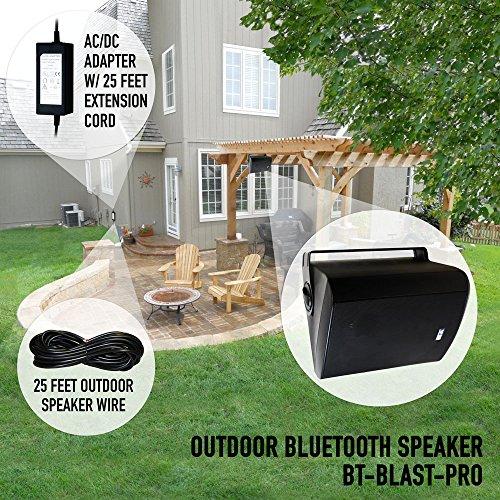Bluetooth 6.50'' Indoor/Outdoor Weatherproof Patio Speakers, Wireless Outdoor Speakers (Black- pair),by Sound Appeal by Sound Appeal (Image #7)
