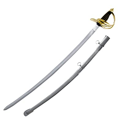 8be12d97b20 Amazon.com  Red Deer® Reenactor Set Model 1860 M1862 US Light Cavalry Saber  - 6 Swords Set  Clothing