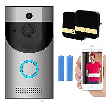 Timbre de Video, cámara de Seguridad WiFi 720P HD con baterías Chime 2, conversación