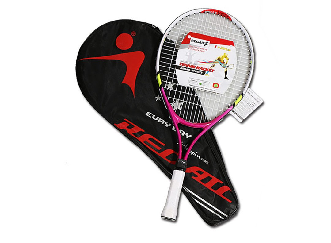 1 pcs Teenagerのトレーニングテニスラケットアルミニウム合金ラケットwithバッグfor Chidlren New Beginners with Free Carryバッグ B07FSDQ423  Red Handle