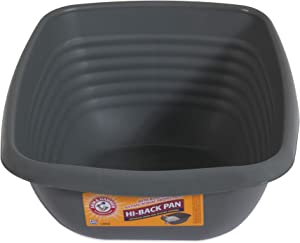 Arm & Hammer Hi-Back Cat Pan/Litter Box, Pearl Ash Blue