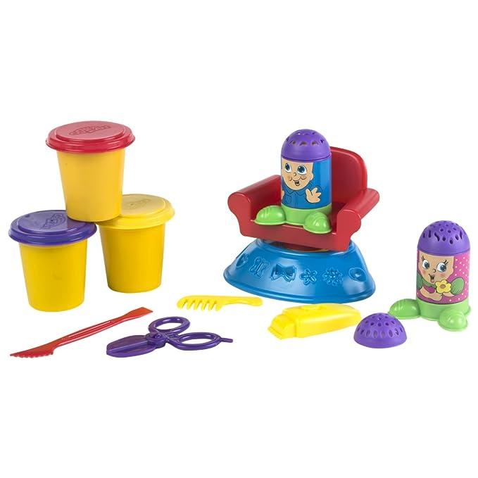 ColorBaby - Set peluquería de plastilina, 3 botes de 90 ml (44108): Amazon.es: Juguetes y juegos