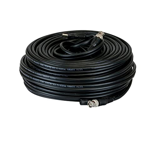 GW Security 150Ft Professional Grade RG59 Siamese Combo Coaxial Cable Pre-made All-in