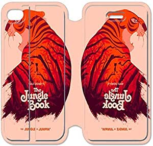 Leather Smart Cover With Flip Stand Phone Case iphone 5C-Jungle Book-30