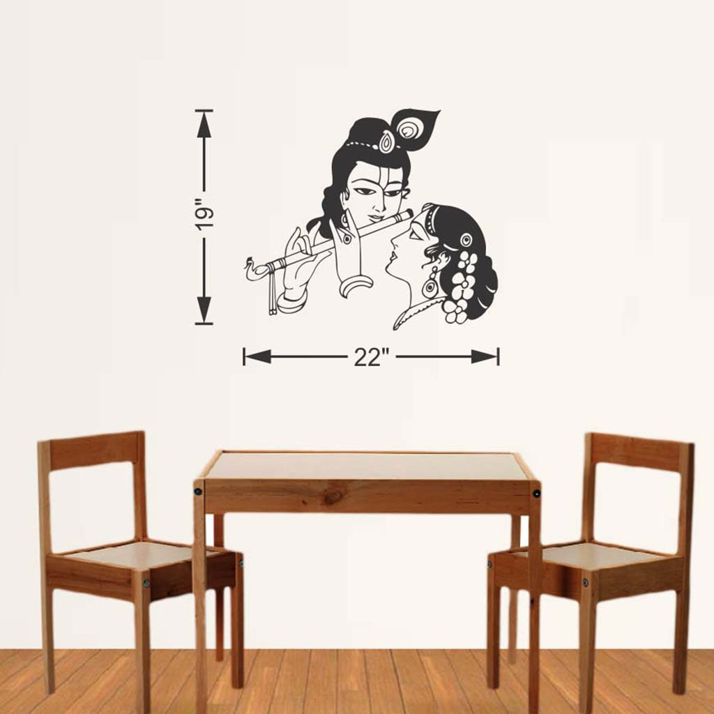 Wall stickers radha krishna - Buy Hoopoe Decor Lord Krishna With Radha Wall Stickers And Decals Small Online At Low Prices In India Amazon In